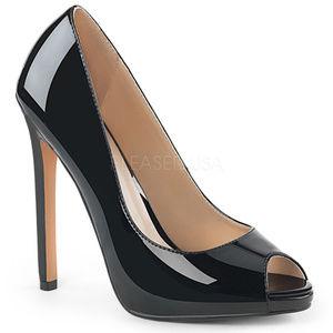 Shoes - 5 Inch High Heel Platform Peep Toe Stiletto Shoes